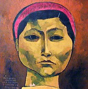 """Rigoberta Menchú"" - Oswaldo Guayasamín. Oil on canvas. 1996."